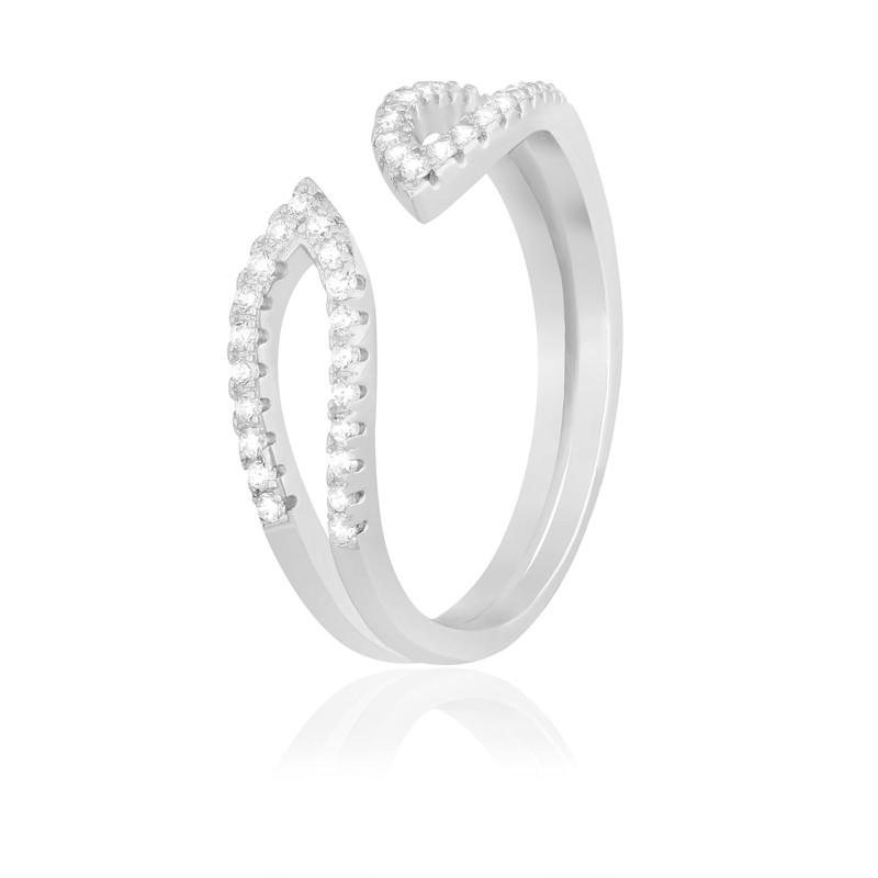"""Серебряное кольцо с камнями """"294"""""""
