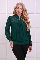 Женская малахитовая блуза АНИТА ТМ Таtiana 52-62  размер