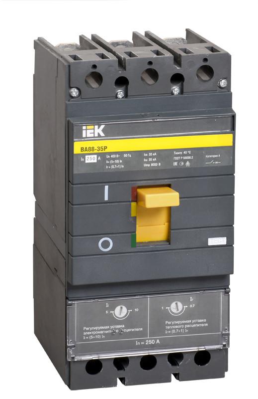 Автоматический выключатель ВА88-35Р 3Р 250А 35кА IEK