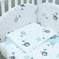 """Постельное белье в детскую кроватку """"""""Elephant""""  blue Верес™"""