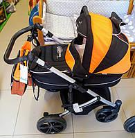 Коляска Bebetto SOLARIS чорна з оранжевим