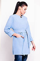 Женский плащ голубого цвета. Модель 13731.