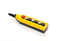 Крановый пульт управления 6-кнопочный, 1 скорость (жёлто-чёрный) PV7T1X222 ЭМАС