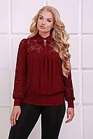Женская бордовая  блуза АНИТА ТМ Таtiana 52-62  размер
