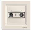 Розетка TV-R крем проходная 8dB Asfora