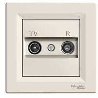 Розетка TV-R крем проходная 4dB Asfora