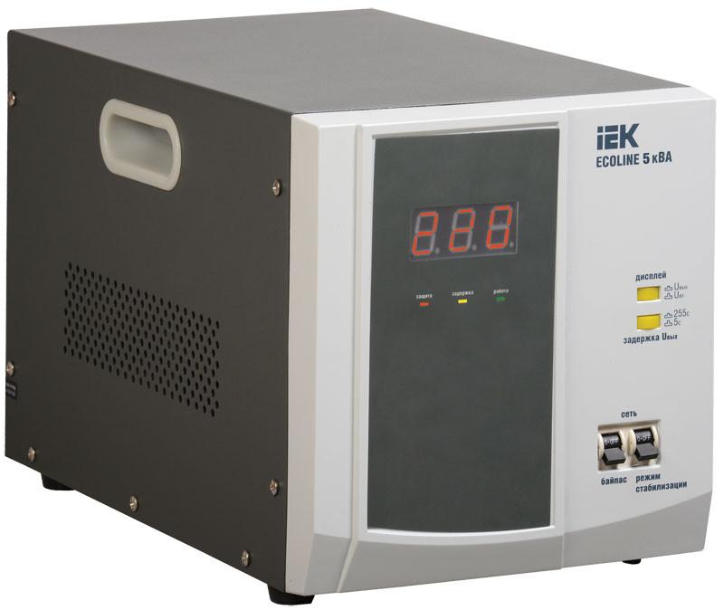 Стабилизатор напряжения переносной серии Ecoline 5 кВА IEK