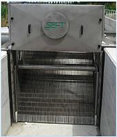 Канальная механическая ступенчатая решетка для механической очистки сточных вод GPG-06 AISI 304