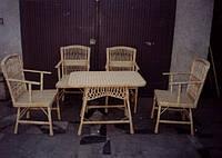 Комплект мебели из лозы Натуральный