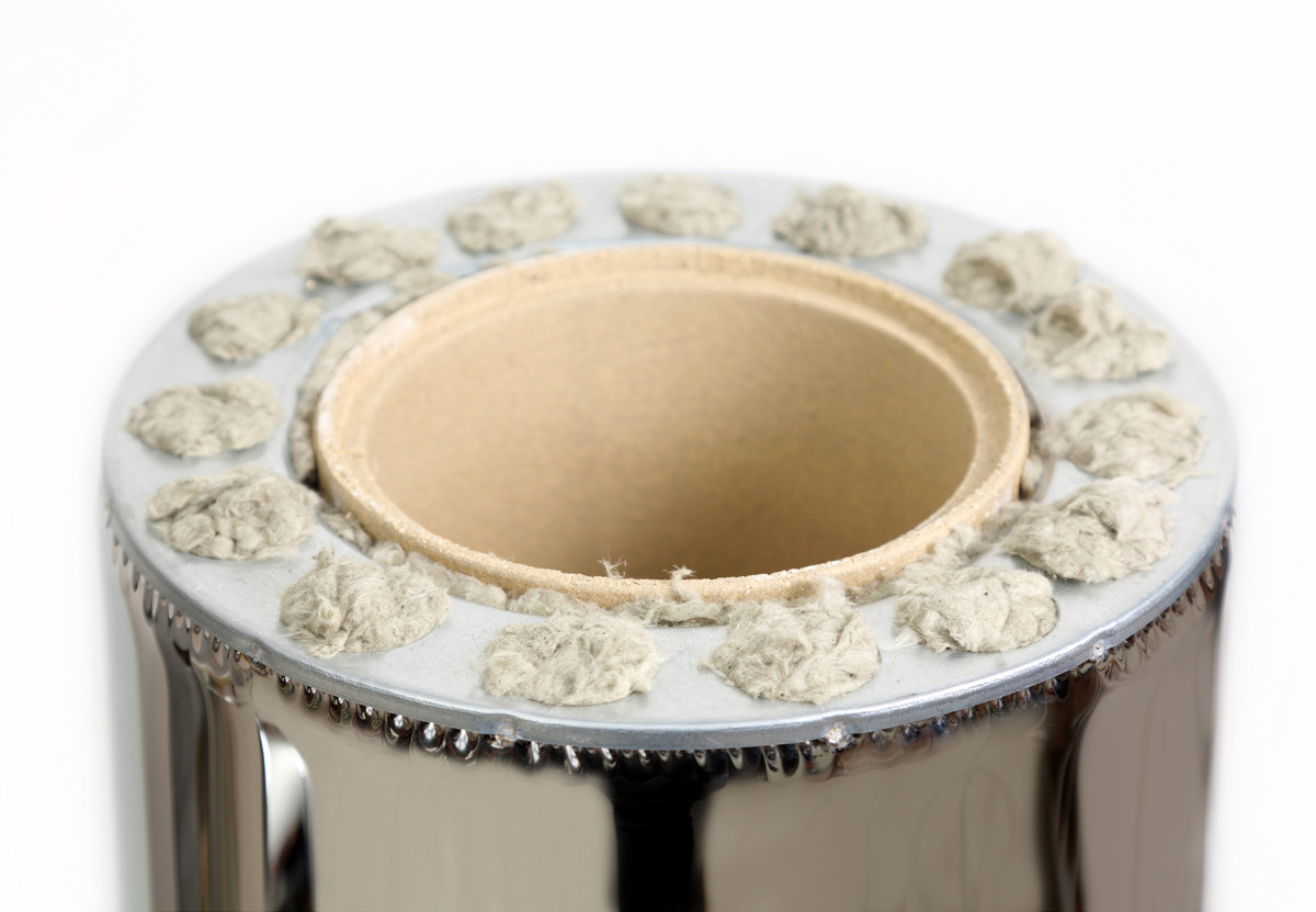 Керамическая труба дымохода Ø160/300 0,33м в нерж. кожухе