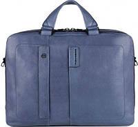 Прочный мужской портфель из натуральной кожи Piquadro, PULSE/Blue CA3347P15S_BLU синий