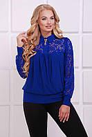 Женская синяя  блуза АНИТА ТМ Таtiana 52-62  размер