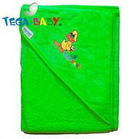 Полотенце с капюшоном Tega TG-071 80/80 зеленый