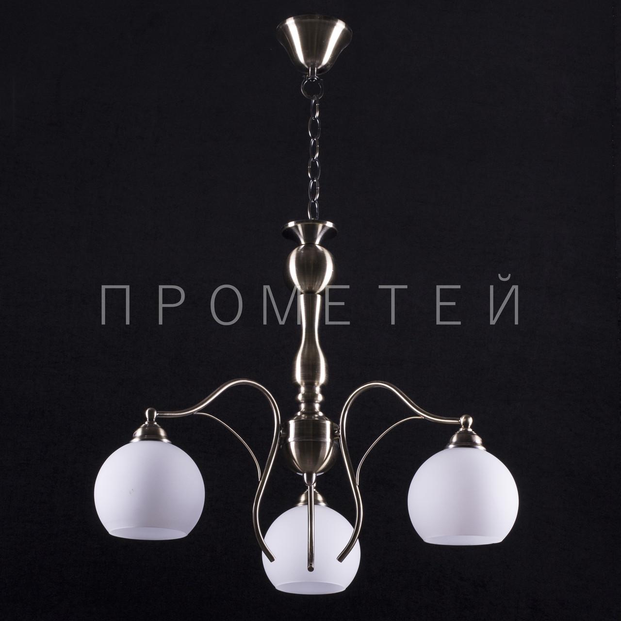 Люстра на 3 лампочки (античная бронза). P3-70400/3/AB+MK