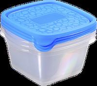 Набор емкостей для пищевых продуктов 3 шт по 1,1 л, голубой/прозрачный AKE AWAY 2 Curver 214398