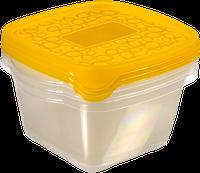 Набор емкостей для пищевых продуктов 3 шт по 1,1 л, оранжевый/прозрачный AKE AWAY 2 Curver 214399