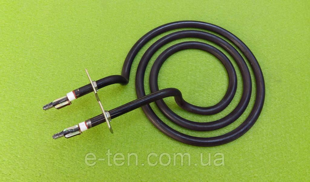 Тен спіралевидний 1100 W / Ø125мм (з перемичкою) з нержавійки / контакти в бік для електроплит