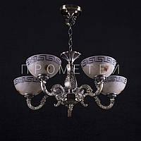 Люстра на 5 лампочек (античная бронза). P3-72000/5/AB+BK