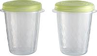 Набор емкостей для пищевых продуктов 2 шт по 1 л, зеленый/прозрачный AKE AWAY TWIST Curver 212377