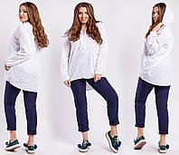 """Рубашка из прошвы большой размер  """"Oriadna"""" 2P/NR 5024"""