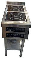 Плита индукционная 2 конфорки 3,5 кВт для бара (400х800х850)
