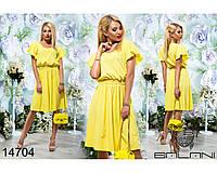 Шифоновое  летнее  платье  -  14704