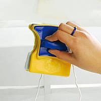 Магнитная щетка для мытья окон с двух сторон, фото 1