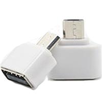Адаптер OTG - Micro  (mini белый)