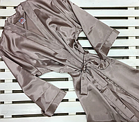 Халат атласный кимоно цвет капучино, размер XL