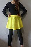 Юбки гимнастическая детская для танцев желтая, фото 2