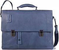 Кожаный портфель Piquadro CA4130P15S_BLU синий