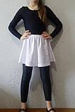 Юбки гимнастическая подросток для танцев белая, фото 2