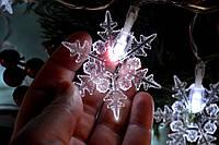 """Новогодняя гирлянда на батарейках """"Шикарные снежинки"""", фото 1"""