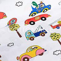 Хлопковая ткань Машинки в городе, фото 1