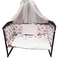 Комплект детского постельного белья 8 в 1, Совята