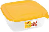 Набор емкостей для пищевых продуктов 3 шт по 0,25л/0,8л/1,7 л, желтый/прозрачный FRESH&GO Curver 182207