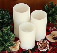 Набор из 3 Led свечей с дистанционным управлением, фото 1