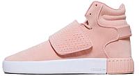 """Женские кроссовки Adidas Tubular Invader Strap """"Pink"""" (в стиле Адидас Табулар) розовые"""
