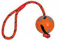 Мяч Trixie Ball on a Rope для собак резиновый, на канате, 6х32 см