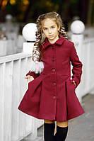 Осеннее модное девичье пальто