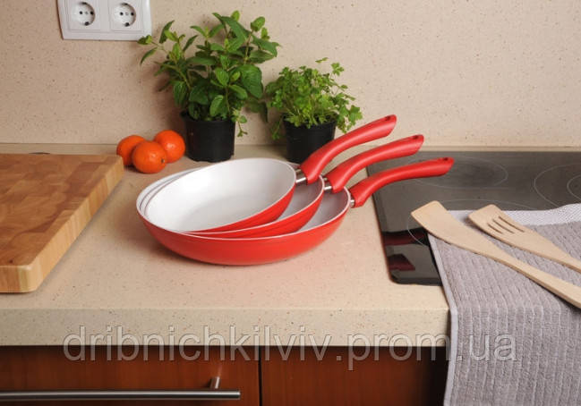 Набор керамических сковородок