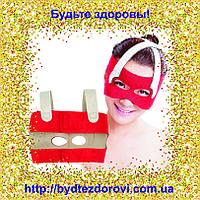 Неопреновая маска-бандаж для коррекции овала лица (лобные, носовые складки, щёки).