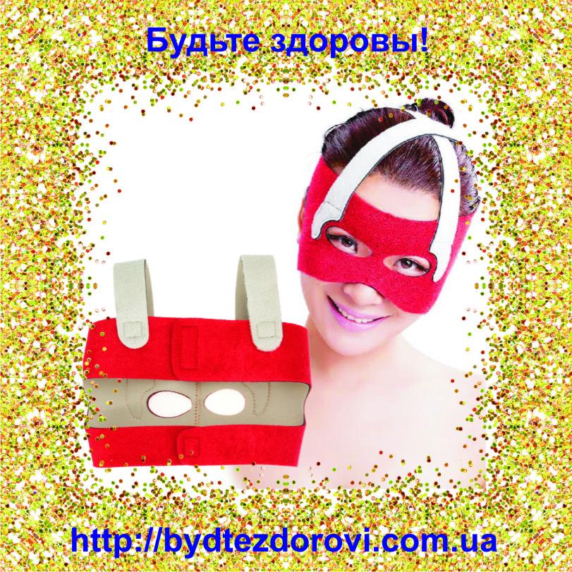 Неопреновая маска-бандаж для коррекции овала лица (лобные, носовые складки, щёки)., фото 1