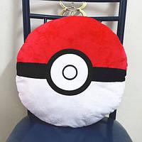 Плюшевая мягкая Подушка покебол из Покемонов 40х40 см
