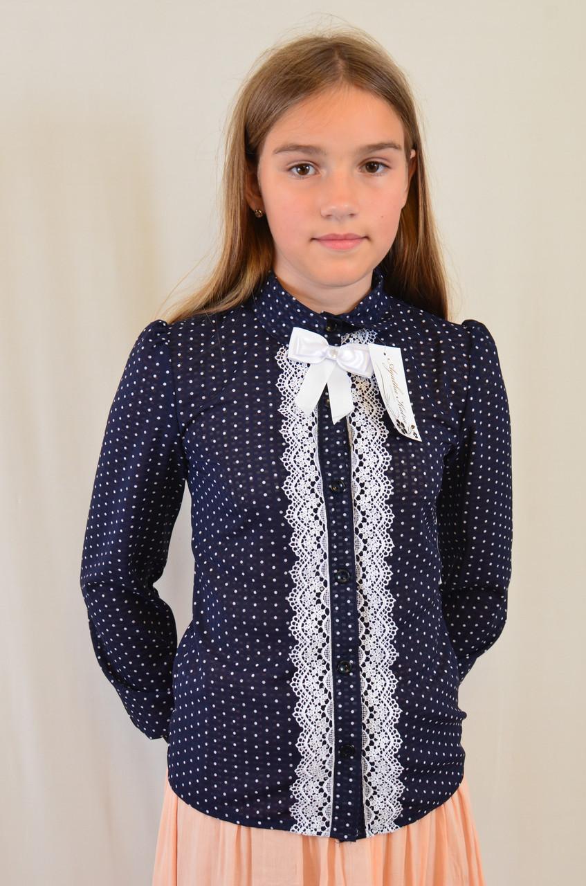14fe53ef2f3 Школьная нарядная очень красивая блузка на девочку в горошек - Exclusive в  Хмельницком
