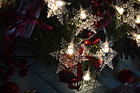 """Светодиодная новогодняя гирлянда """"Нежные снежинки"""" на батареек, фото 1"""
