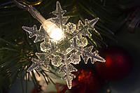 """Новогодняя гирлянда """"Нежные снежинки"""" от батареек, фото 1"""