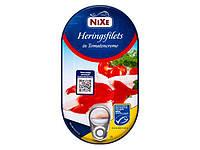 Нежные филе сельди в томатном креме NIXE Zarte Heringsfilets in Tomatencreme 200g