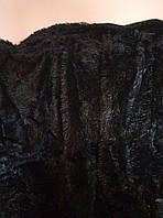 Покрывало плед травка 220х240 Koloco с длинным ворсом черный