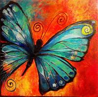 Мозаика акриловыми камнями Рисунок бабочки DM-182 (30 х 30 см) ТМ Алмазная мозаика